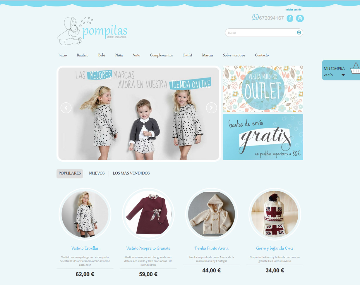 922d9ddd Tienda online de moda infantil, diseño de tiendas online ropa
