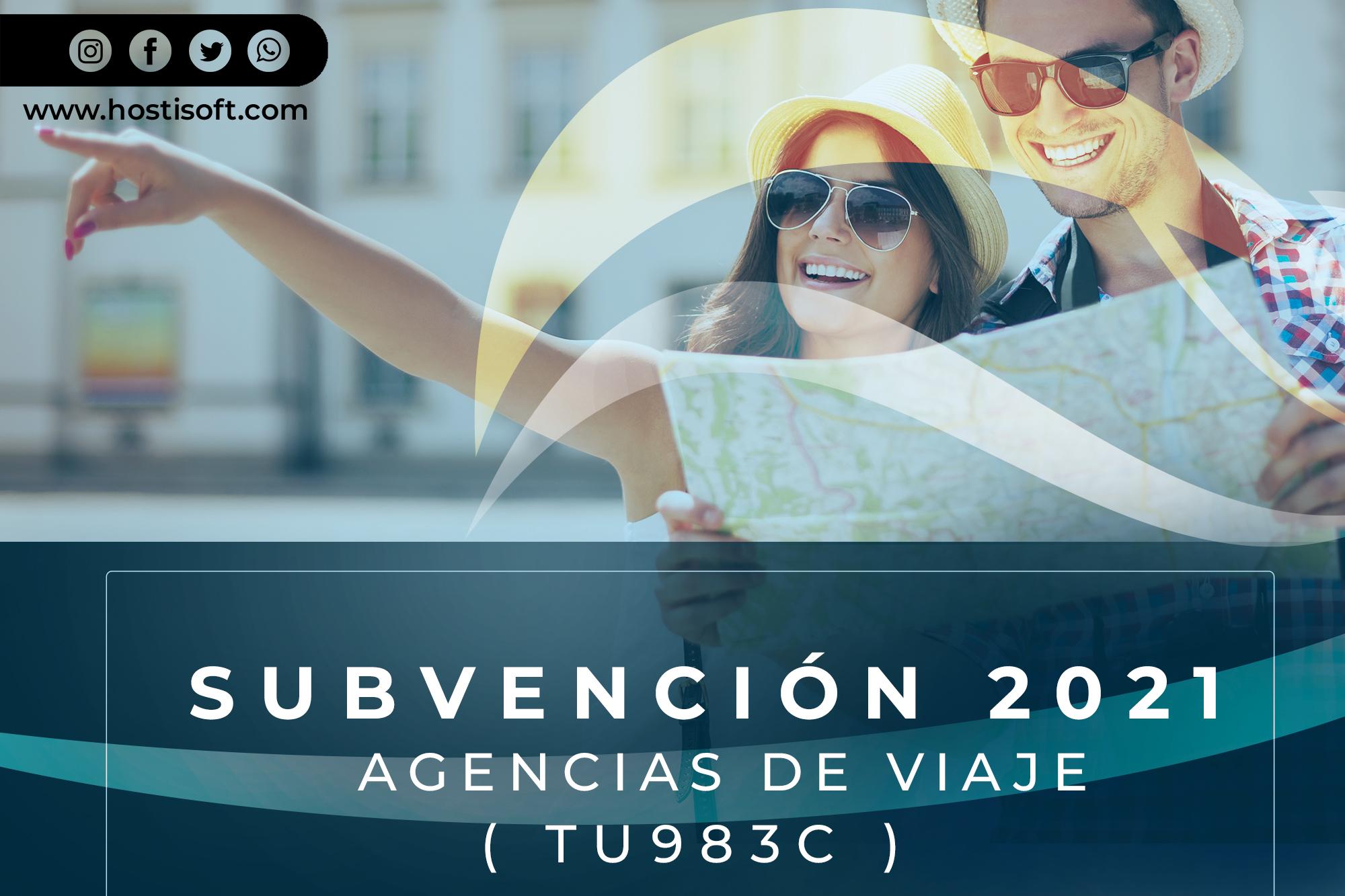 SUBVENCION A LAS AGENCIAS DE VIAJE ( TU983C )